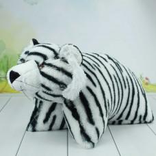Подушка складушка белый тигр, 45 см.