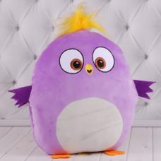 """Детская подушка-муфта """"Angry Birds"""" фиолетовая подушка Енгри Бердс"""