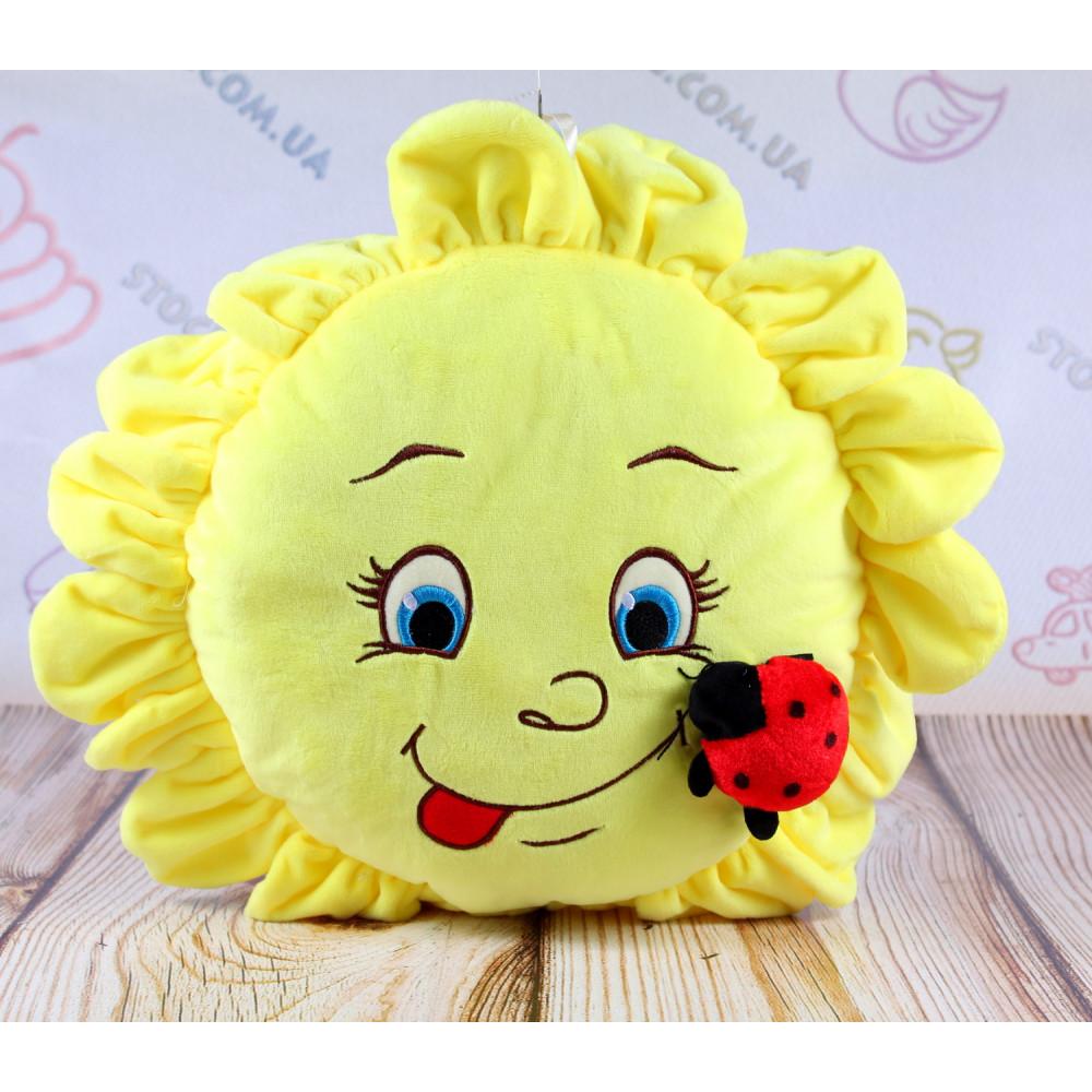 Мягкая игрушка подушка Солнышко