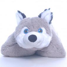 Детская подушка Хаски, подушка складушка, собака Хаски подушка