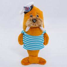 Мягкая игрушка Морж Моряк, 30 см