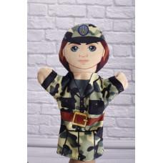 Игрушка рукавичка Военнослужащий, 31 см