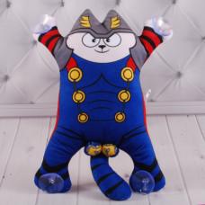 """Мягкая игрушка """" Котик на присосках"""", 30 см."""
