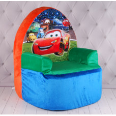 """Детское кресло """"Тачки"""", плюшевое кресло с Молния Маккуин, Lightning McQueen, Молния Маквин, Тачки"""