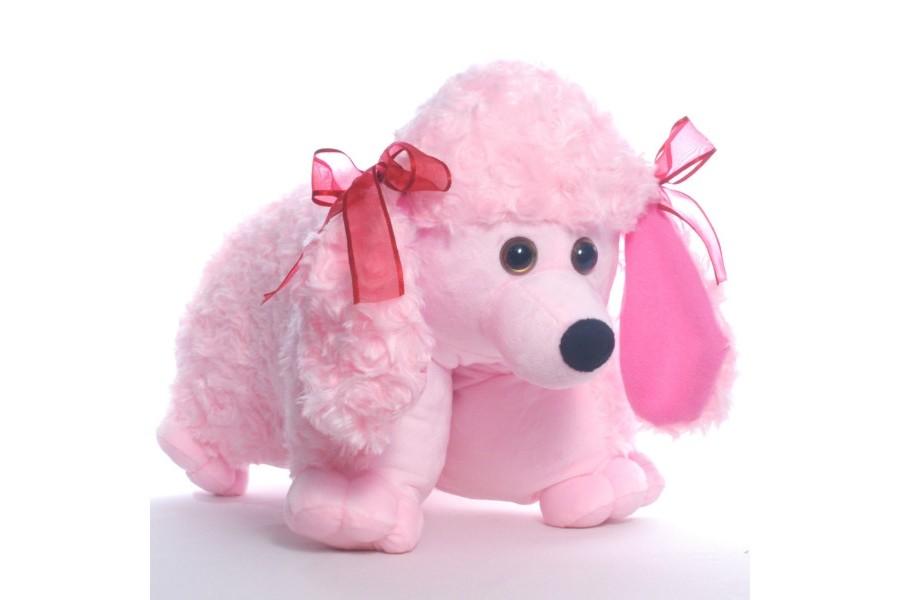 плюшевая собака подушка на день влюбленных